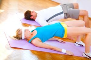 Cours de pilates duo
